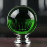 Green Crystal Glass Round Ball Knobs 40mm