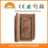 8W Red Waved Solar Roof Tile with Shivering