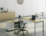 Popular Steel Frame L Shape Modern Office Desk