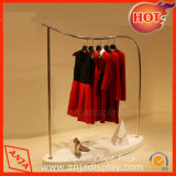 Metal Clothes Hanger Display Gondolas Shop Fitting