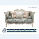 Classic Style Wood Frame Sofa for Living Room Furniture