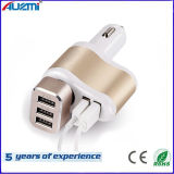 3in1 Dual USB Portable Car Charger with Cigarette Lighter