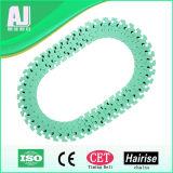 Multiflex Flexible Plastic Slat Table Top Conveyor Chain in Green Color