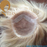 Hand Tied French Lace Hair Toupee with PU Around