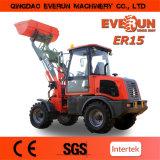 Everun Brand Compact Wheel Loader Er15 with Pallet Forks