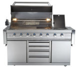 Aga Approval 6burner Gas BBQ Grill with Blue LED Light