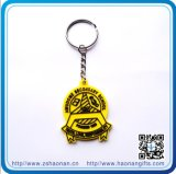 Custom Yellow PVC Logo with Keyring for Gifts