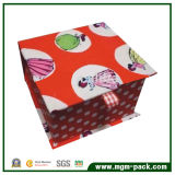 Lovely Orange Paper Chocolate Packing Box with Cartoon Patterns