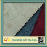 High Quality New Design Colorful Suede Bonded Faux Fur Fabrics