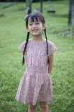 100% Cotton Children Apparel Flower Girl Dress for Summer