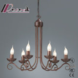Decoration and Simple Antique Iron Chandelier of Dining Room
