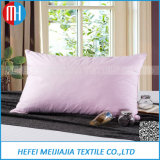 Soft Cotton Cover Goose Down Mixed Silk Pillow for House