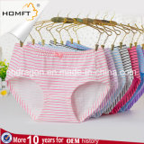 New Arrival Comfortable Ventilate MID-Rised Cotton Cross Stripe Printing Young Girls Stylish Panties Ladies Lingerie Panty