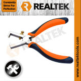 Professional Nickel-Plated Wire Stripping Pliers with Bi-Color Dipped Handles