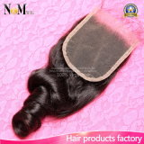 Loose Wave Brazilian Virgin Human Hair Lace Closure Pieces