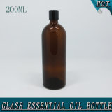 200ml Slim Amber Empty Essential Oil Glass Bottle Crown Cap