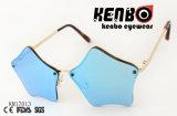 Star Shaped Lens Over Metal Frame Special Design Sunglasses Km17013