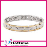 Magnetic Adjustable Stainless Steel Bracelet with Energy Stone