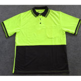 Dry Fit Cool Plus Fluorescent 100% Polyester Green Mens Polo Shirt Online