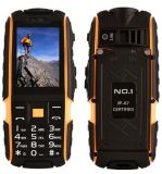 Original Rugged Phone No. 1 A9 with Flashlight Dustproof Shockproof 2.4 Inch Dual SIM 2g GSM 4800mAh Power Bank Orange Color