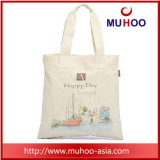 Customized Promotional Canvas Tote Handbag Cotton Sports Bag for Beach