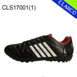 Soft PU Upper Men Soccer Indoor Train Shoes with TPR Sole