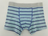 Yarn Dye Blue Strip Children Underwear Boy Boxer Short Boy Brief