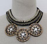 Lady Fashion Charm Navy Crystal Choker Pendant Necklace Jewelry (JE0112-2)