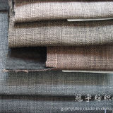 Slub Yarn Polyester Linen Fabric for Sofa Covers