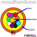 12 Fibers Bundle Indoor Distribution Optical Fiber Cable 0.9mm Breakout