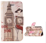 Tower Smart Cute Painted Wallet Flip Case for iPhone 5s