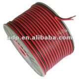 24 AWG Speaker Wire, 2 Core Flat Red and Black