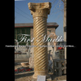 White Travertine Column for Home Decoration Mcol-301