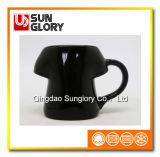 Black Glazed Porcelain Mug of Syb009