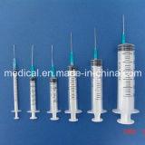 Disposable Luer Slip or Luer Lock Syringe with Needle