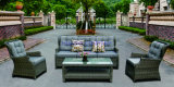 Wicker Sofa Outdoor Rattan Furniture Chair Table Wicker Furniture Rattan Furniture for Wicker Furniture (Hz-BT106)