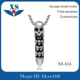 High Quality Stainless Steel Bullet Pendant with Skull Logo