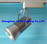 Yaye Hot Sell Competitive Price COB 30W LED Track Light with Silver Lamp Body