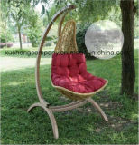 Outdoor Balcony Wood Frame Woven Rattan Hammock Swing Chair