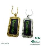 Custom Shape Soft Enamel Fashion Iron Dog Tag Necklace (W-48)