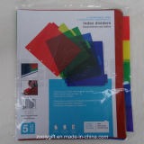 Eco-Friendly PP 5-Tab Binder Index Dividers 5 Tab A4 Plastic Index File Divider