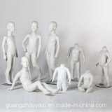 Cute Fiberglass Glossy White Kids Mannequin in Hot Sale