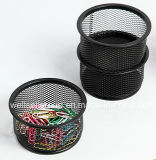 Fashion Desk Organizer Stackable Metal Wire Mesh Paperclips Holder