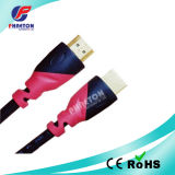 1080P Two Color HDMI Cable with Goldend Plated Plug (pH6-1213)