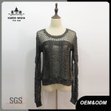 Women Sexy Fit Round Neck Knitwear Garment