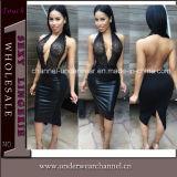 Sexy Women Backless Halter Prom Dress (TBLSN66117)