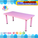 Pink Plastic Student Table for Kindergarten (XYH-0010)