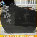 Cheap Granite Shanxi Black Tombstone with Rose