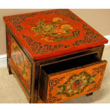 Chinese Antique Painted Wooden Drawer Cabinet Lwb575