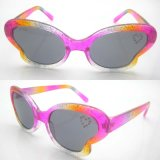 2015 Fashion Pink Butterfly Designed Sunglasses for Kids